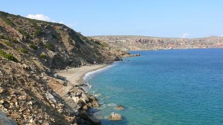 kreta: Remote beach on crete greece Stock Photo