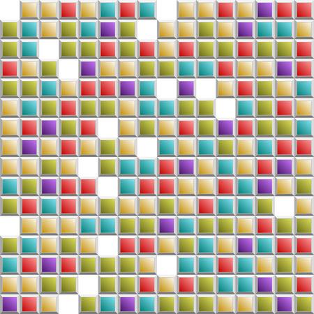 Tetris colorful squares seamless Illustration