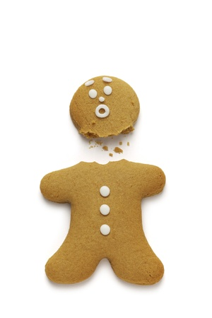 Gingerbread man loses his head Stock Photo - 15320945