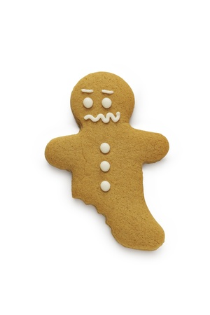 A worried looking gingerbread man  Stock Photo