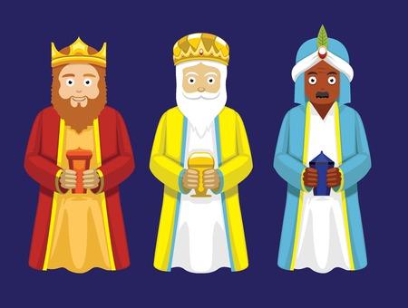 melchor: Three Wise Men Cartoon Characters Illustration