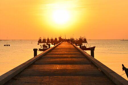 Sunset port