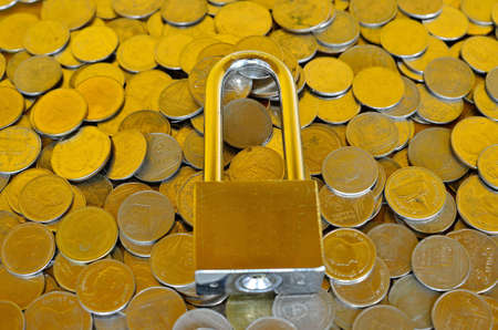 lock and coins photo