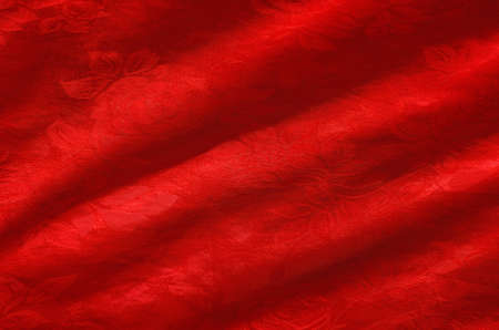 Red Silk closeup photo