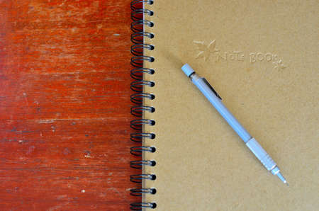 clutch type pencil and note book  photo