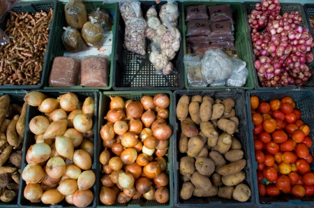 common market: Fresh organic Fruits and vegetables in a farmers market