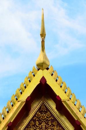 buddha temple and blue sky