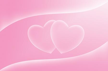 sladká láska růžové srdce pozadí Reklamní fotografie - 14243880