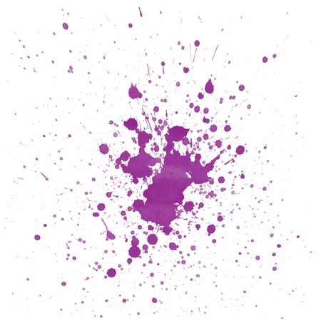purple watercolor splashes on white background photo