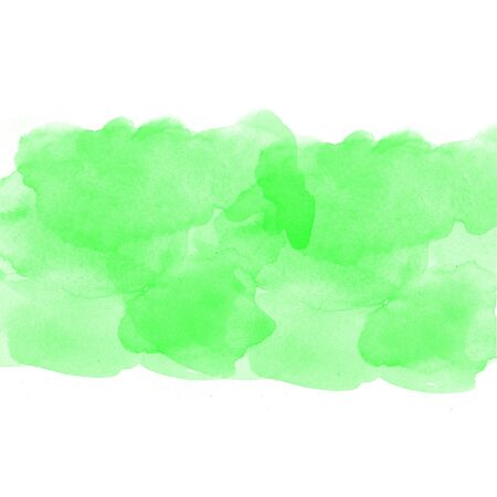 green abstract watercolor on white background photo