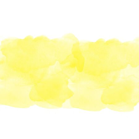 degraded: yellow abstract watercolor on white background