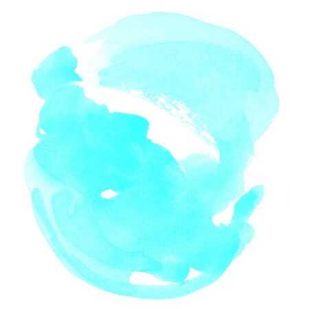 colour intensity: abstract watercolor on white background