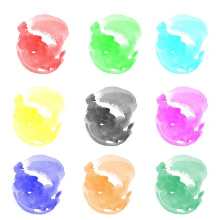 Watercolor hand painted circle shape design elements Stock Photo - 14511553
