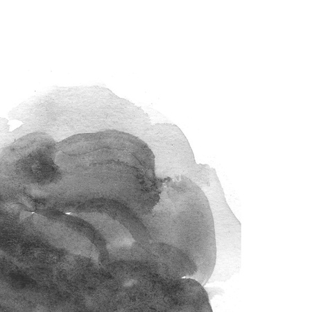 ink in water: abstract black watercolor on white background Stock Photo