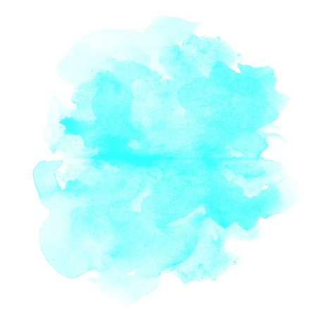 colour intensity: abstract blue watercolor on white background