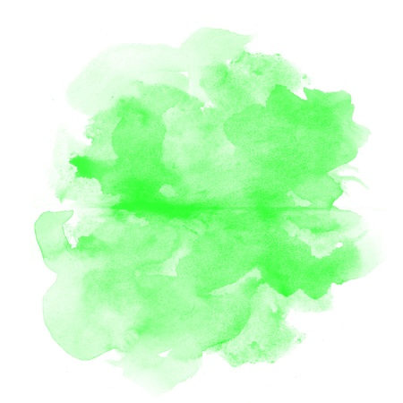 abstract green watercolor on white background