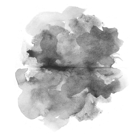 homemade style: abstract black watercolor on white background Stock Photo