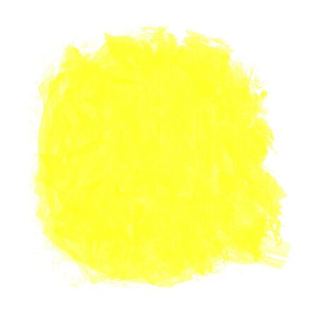 abstract yellow watercolor on white background photo
