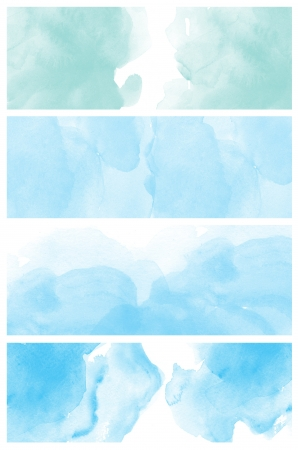 multilayer: Set of watercolor abstract hand painted backgrounds