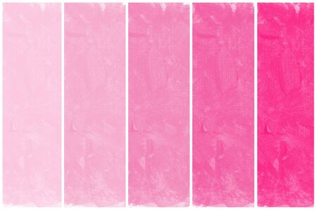 Set of abstract pink watercolor hand painted  photo