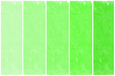 degraded: Set of abstract green watercolor hand painted  Stock Photo