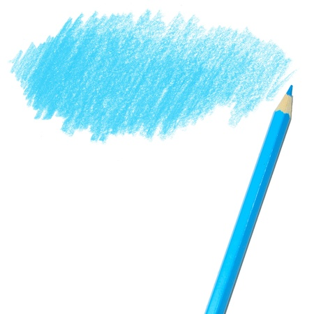 crayon drawing: colored pencil drawing  on a white background