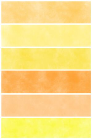 multilayer: Set of orange watercolor abstract hand painted backgrounds Stock Photo