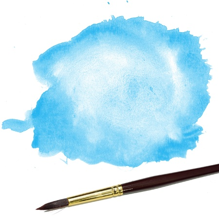 background with artists brush and watercolor painted Stock Photo - 14886890