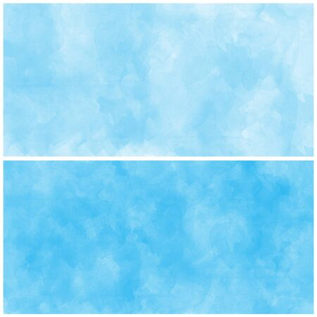 set of abstract blue watercolor photo