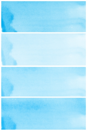 Set Of blue Abstract watercolor background  photo