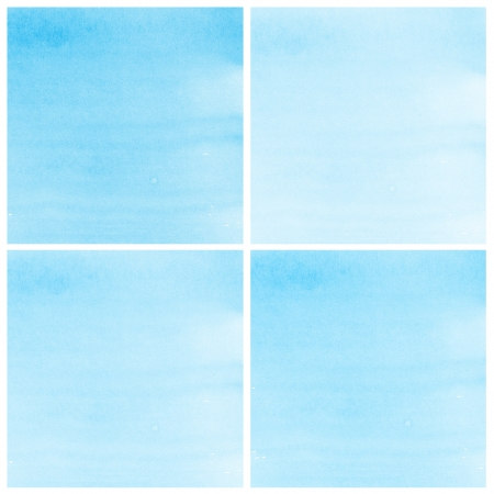 Set Of blue Abstract watercolor background Stock Photo - 15169624