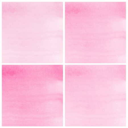 Set Of pink Abstract watercolor background photo