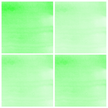 Set Of green Abstract watercolor background photo