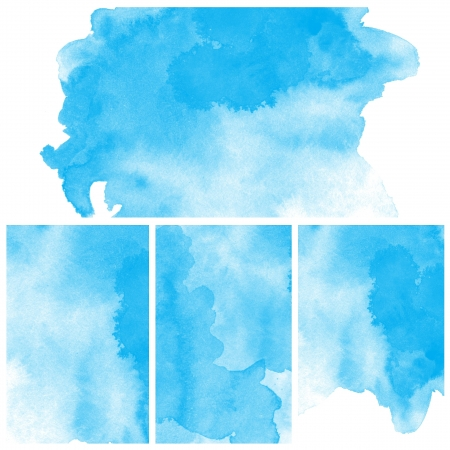 vivid colors: Set Of Blue Abstract watercolor background Stock Photo