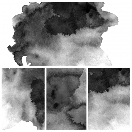 Set Of Black Abstract watercolor background photo