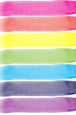 Background with colors of rainbow watercolor painted Stock Photo - 15337802