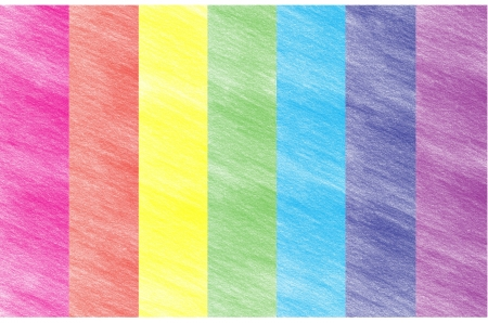 Child s rainbow crayon drawing  Hand-drawn colored pencil background photo