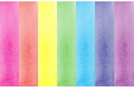 Background with colors of rainbow watercolor painted Stock Photo - 15337827
