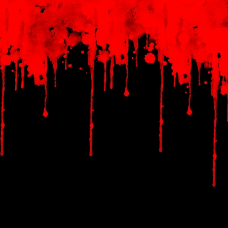 flow blood: Blood splashing on black