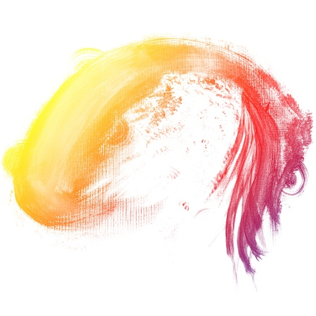 multilayer: Abstract watercolor hand painted background