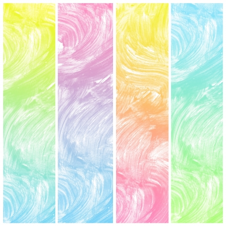 multilayer: Set of colorful abstract art water colour hand paint background Stock Photo