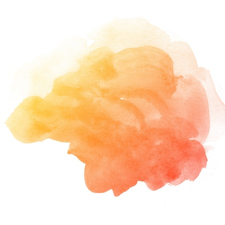 watercolor splash: Abstract watercolor art hand paint on white background Stock Photo