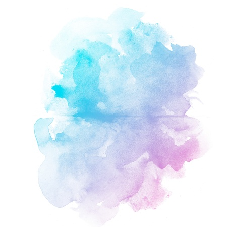 Abstract watercolor art hand paint on white background Reklamní fotografie