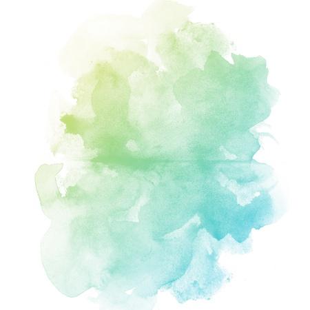 El arte abstracto acuarela mano de pintura sobre fondo blanco