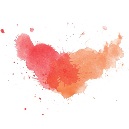 Abstract watercolor art hand paint on white background Stock Photo - 15581659