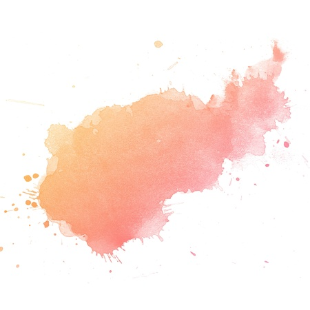 Abstract watercolor art hand paint on white background photo