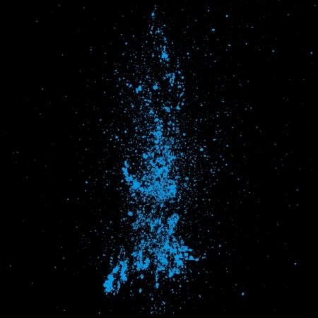 decoration messy: blue color splash on black background
