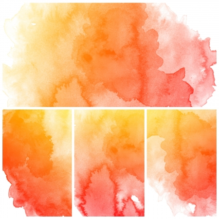 ink in water: Set of colorful Abstract water color art hand paint background