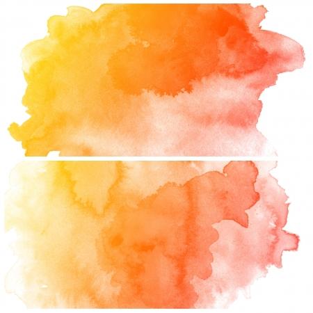 다채로운 추상 물 컬러 아트 핸드 페인트 배경의 세트 스톡 콘텐츠