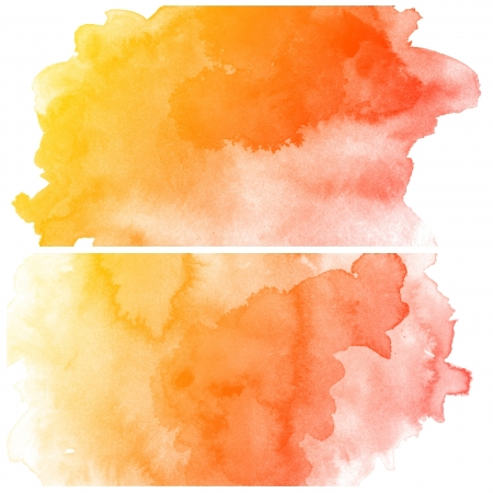 watercolor paper: Set of colorful Abstract water color art hand paint background